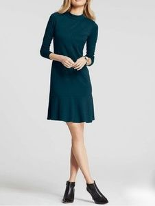 Ann Taylor Flounce Hem Long Sleeve Dress